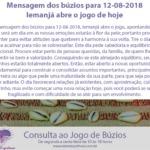 Mensagem dos búzios para 12-08-2018: Iemanjá abre o jogo de hoje