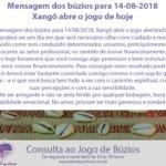Mensagem dos búzios para 14-08-2018: Xangô abre o jogo do dia