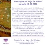 Mensagem dos búzios para 18-08-2018: Oxumarê abre o jogo de hoje