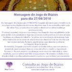 Mensagem dos búzios para 27-08-2018: Oxaguiãn abre o jogo do dia
