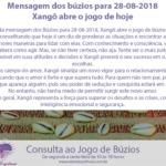 Mensagem dos Búzios para 28-08-2018: Xangô abre o jogo de hoje