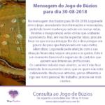 Mensagem dos búzios para 30-08-2018: Logunedé abre o jogo do dia