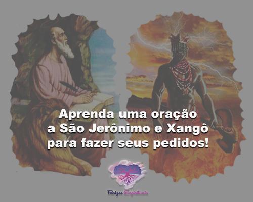 oração a São Jerônimo e Xangô