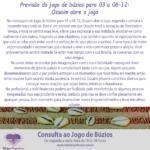 Previsão do jogo de búzios para 03 a 06-12: Ossaim abre o jogo