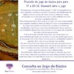 Mensagem do jogo de búzios para 17 a 20-12: Oxumarê abre o jogo