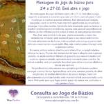 Mensagem do jogo de búzios para 24 a 27-12: Ewá abre o jogo