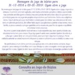 Mensagem do jogo de búzios para 31-12-2018 a 03-01-2019: Ogum abre o jogo