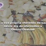 Faça sua própria oferenda de saúde, neste dia de oferendas a Omulú/Obaluaê