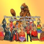 Nomes de Exús e Pombagiras de Oxum na Umbanda