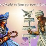 Nanã e Oxalá criam os seres humanos
