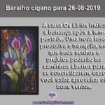 "Baralho Cigano para 27-08-2019: ""Os Lírios"""