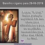 """Carta do Baralho Cigano para 29-08-2019: """"A Cruz"""""""