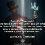 Salve Exú Giramundo! Gira nosso mundo, meu velho!