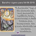 Carta do Baralho Cigano para 04-09-2019: A Montanha
