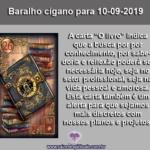"""Carta do Baralho cigano para 10-09-2019: """"O Livro"""""""