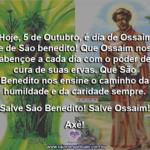 Hoje, 5 de Outubro, é dia de Ossaim e de São benedito!