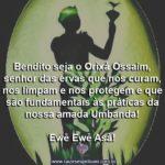 Louvado seja o Orixá Ossaim, senhor das ervas Sagradas!