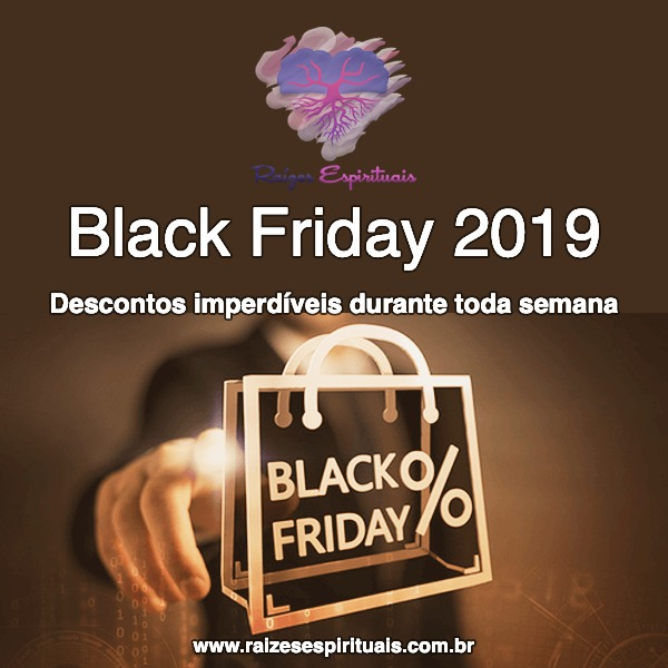 Imagem de uma sacola de compras com o título: Black Friday 2019 - Descontos imperdíveis durante toda semana