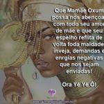 Salve Mamãe Oxum e seu espelho de proteção. Ora Yê Yê Ô!