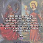 Hoje, dia 4 de dezembro, é dia de Iansã e Santa Bárbara!
