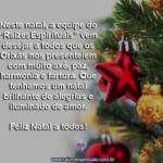 Que o natal seja muita harmonia e amor, sob a luz divina dos Orixás!