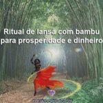 Ritual de Iansã com bambu para prosperidade e dinheiro