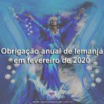 Obrigação anual de Iemanjá em fevereiro de 2020