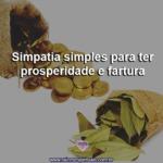 Simpatia simples para ter prosperidade e fartura