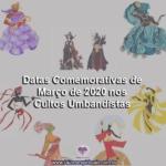 Datas Comemorativas de Março de 2020 nos Cultos Umbandistas