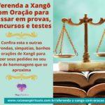 Oferenda a Xangô com Oração para passar em provas e concursos