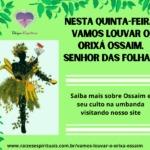Nesta quinta-feira, vamos louvar o Orixá Ossaim, senhor das folhas!