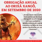 Obrigação anual ao Orixá Xangô em Setembro de 2020