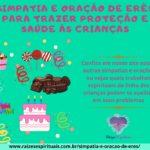 Simpatia e oração de Erês para trazer proteção e saúde às crianças