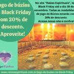 Jogo de búzios na Black Friday com 20% de desconto. Aproveite!