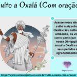 Culto a Oxalá (Com oração)