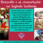 Datas comemorativas de Dezembro de 2020 nos cultos umbandistas