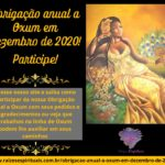 Obrigação anual a Oxum em Dezembro de 2020! Participe!