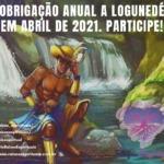 Obrigação anual a Logunedé em Abril de 2021. Participe!