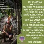Saravá, Caboclo Guaraci, amado Caboclo da umbanda, filho de Ogum!