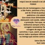 Hoje é dia de Xangô e de São Pedro! Muito axé a todos neste 29 de junho!
